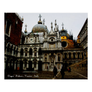 Doges Palace Venice Italy Poster