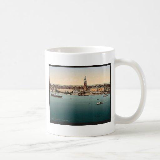 Doges' Palace, Venice, Italy vintage Photochrom Coffee Mugs