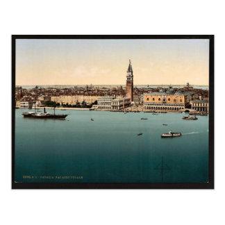 Doges' Palace, Venice, Italy vintage Photochrom Postcard