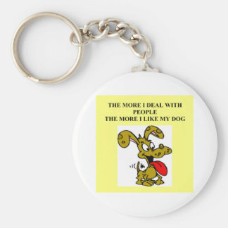 dogf are better than people basic round button keychain