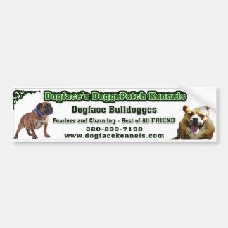 Dogface bumpersticker bumper stickers