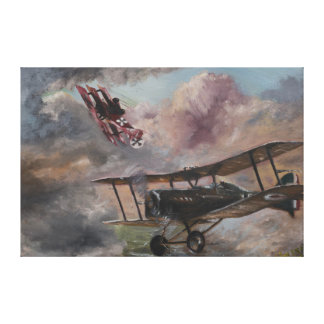 Dogfight 1917 canvas print