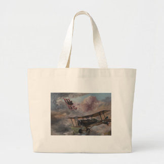 Dogfight 1917 large tote bag