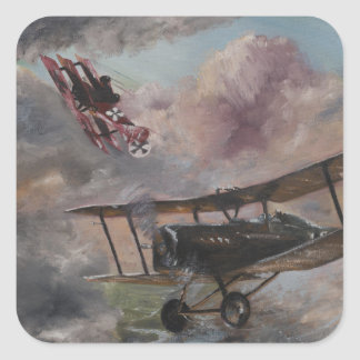 Dogfight 1917 square sticker