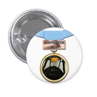 Dogfighter Ace medal button