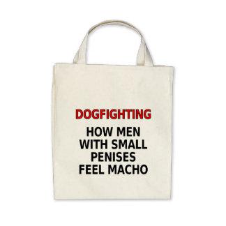 Dogfighting Cómo los hombres con los pequeños pen Bolsa De Mano