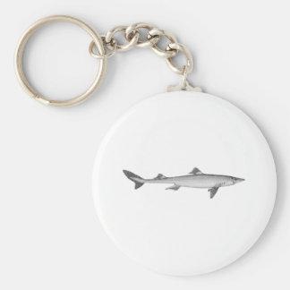 Dogfish Line Art Logo Basic Round Button Keychain