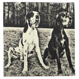 Dogge alemán, Great Dane, Perros, Dogue Allemand Servilleta