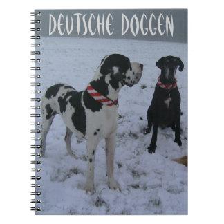 Dogge alemán, Great Dane, Perros, las Navidades Libro De Apuntes