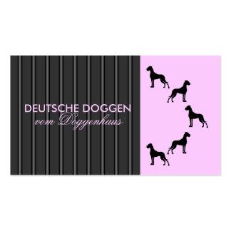 Dogge alemán tarjeta de presentación tarjetas de visita