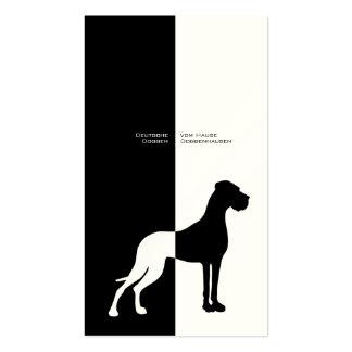 Dogge alemán tarjeta de presentación plantilla de tarjeta de visita