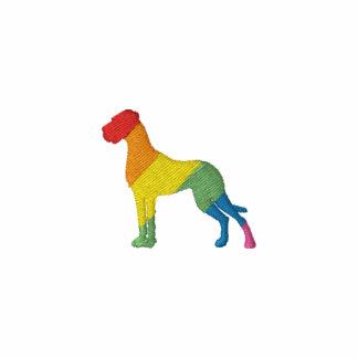 Dogge de colores bordado