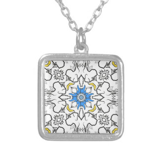 Dogge-Musterblau Silver Plated Necklace