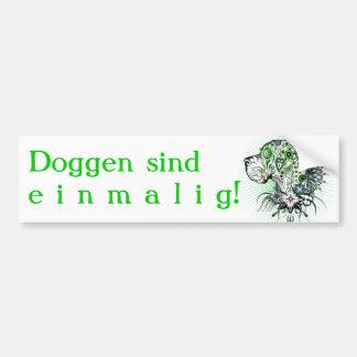 Dogge verdoso Alemán Etiqueta De Parachoque