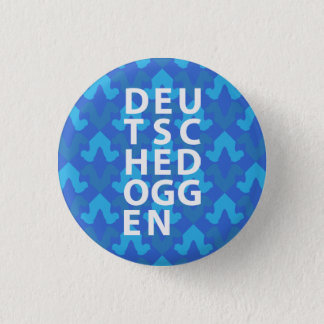 Doggen sample head blue pinback button