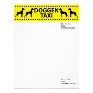 Doggen Taxi letterhead