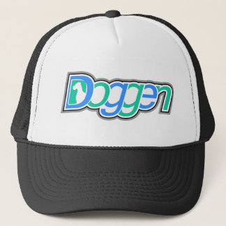Doggen Text mit Kopf Trucker Hat
