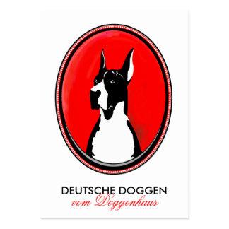 Doggen Visitenkarten Large Business Card