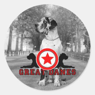Doggenaufkleber Classic Round Sticker