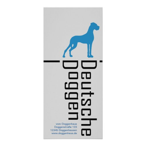Doggenkarten - to the marked custom rack cards