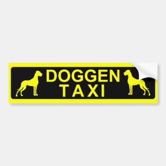 Doggentaxi Pegatina Para Auto