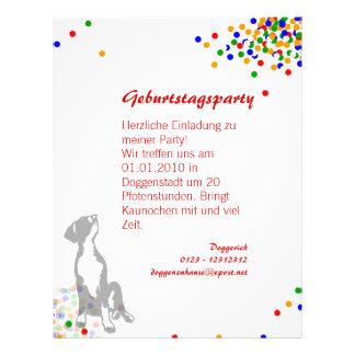 Doggenwelpe Einladung Flyer