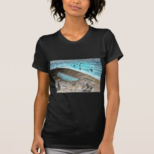 Doggie Beach Party LadiesPetite T-Shirt