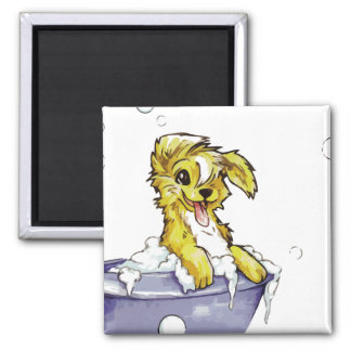 Doggie Bubble Bath Refrigerator Magnet
