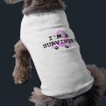 "Doggie Cancer Survivor Shirt<br><div class=""desc"">Rejoice in your doggie&#39;s cancer survival with a CANCER SURVIVOR SHIRT.</div>"