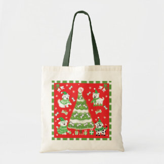Doggie Christmas Tree Tote Bag