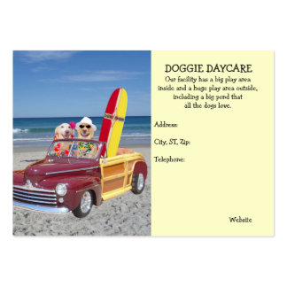 Doggie Daycare Large Business Cards (Pack Of 100)