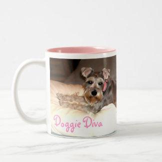 Doggie Diva Two-Tone Coffee Mug
