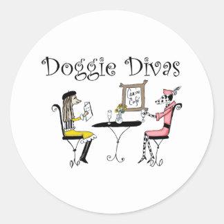 Doggie Divas Classic Round Sticker