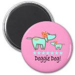 Doggie Dog Magnet pink