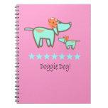 Doggie Dog Notebook pink