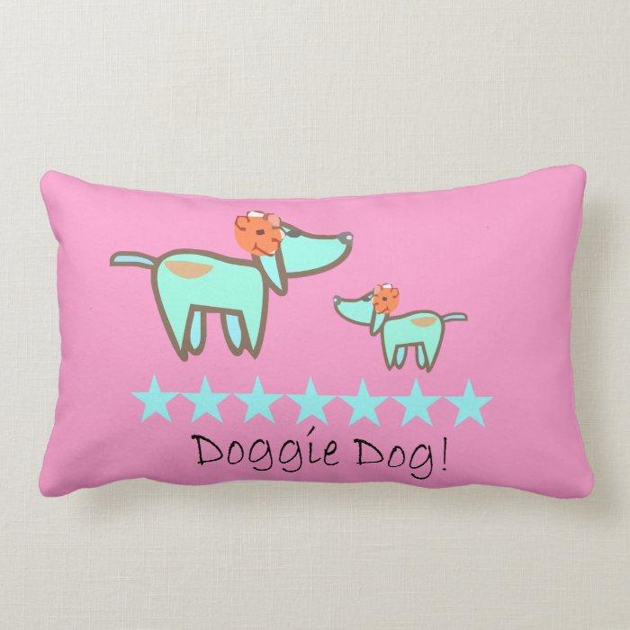 Doggie Dog Pillow pink