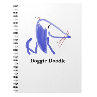 Doggie Doodle Spiral Note Book