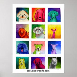 Doggie Dozen, leevandergrift.com Poster