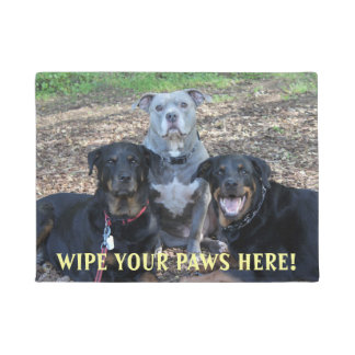 Doggie Family Picture Doormat