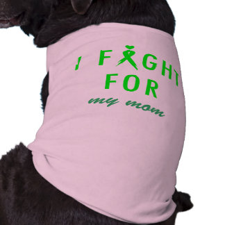 Doggie Fight For Mom Green T-Shirt