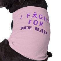 Doggie Fight For My Dad Purple Tee