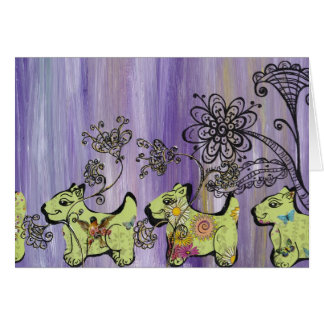 Doggie Garden Card