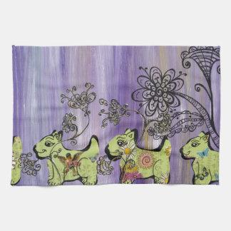 Doggie Garden Kitchen Towel