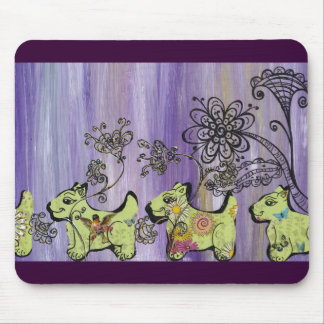Doggie Garden Mouse Pad
