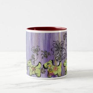 Doggie Garden Two-Tone Coffee Mug