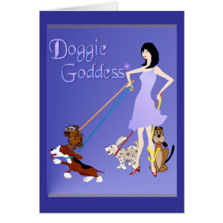 Doggie Goddess PosterP Card
