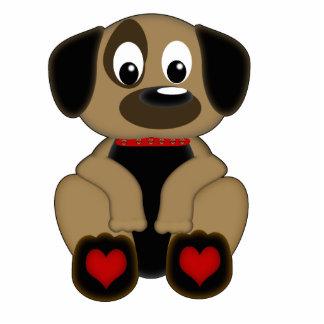 Doggie Heart Standing Photo Sculpture