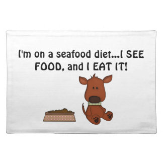 Doggie Humor-Cute Puppy+Dog Food Placemat