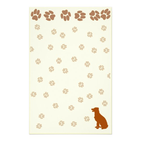 Doggie Paw Print Stationary For all Dog Lovers Stationery
