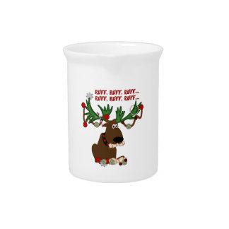 Doggie Reindeer Ruff Ruff Drink Pitcher